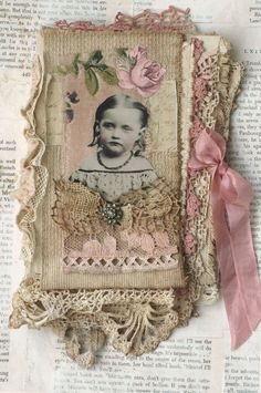 fabric book of girls with roses by Berit Papirdilla