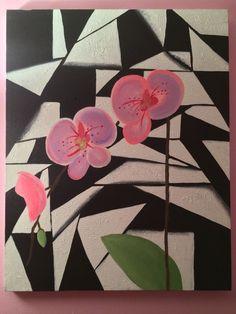 Pink orchids by Tiffani Sahara