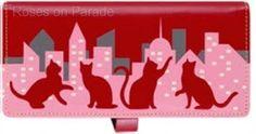 ~CACHE~ RED CAT ESPE ORGANIZER CHECKBOOK WALLET NEW & GIFT BOX #ESPE #BifoldWallet