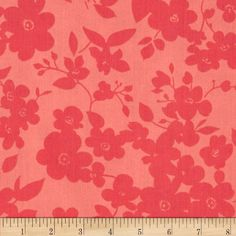 """108"""" Wide Quilt Back Daisies Coral from @fabricdotcom  Designed by Whistler Studios for Windham Fabrics, this 108"""" wide quilt backing is perfect for quilt backing, duvets, light curtains and more! Colors include shades of coral orange."""