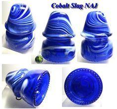 RDP 's Early Cobalt Slag NAJ Hemingray 19 Glass Insulator VVNM   eBay