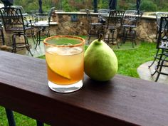 RECIPE: Autumn Pear (makes one cocktail). 1 ½ ounce Toasted Walnut Infused Virginia Highland Malt Whisky; 3 ounces chopped pear (2-3 slices); 1 ounce freshly squeezed lime juice; 1 ounce simple syrup; Black walnut bitters; Cinnamon sugar; 1. Muddle pear in a shaker, while adding lime juice and whisky.   2. Wet glass rim with water and roll in cinnamon sugar. 3. Add 2-3 ice cubes to shaker and shake. 4. Strain mixture into glass. 5. Top with dash of black walnut bitters. Garnish with pear…