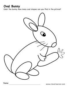 CleverLearner Free Oval Shape Activity Worksheets For Preschool Children Preschool Boards, Preschool Letters, Preschool Crafts, Kid Crafts, Pre K Activities, Letter Activities, Preschool Colors, Preschool Shapes, Rabbit Colors