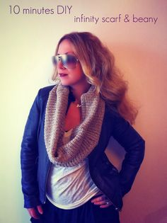 Refashion Co-op: DIY infinity scarf & beany out of a pullover! [great and helpful little refashion, January 2014]