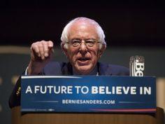 Senator Bernie Sanders making his remarks. Senator Bernie Sanders held a Town Hall at the Santander Performing Arts Center on N. 6th St, in Reading Pennsylvania on Thursday April  21, 2015.  Daniel Zampogna, PennLive