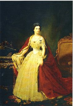 "Portrait by Giuseppe Sogni of the Empress Elisabeth ""Sissi"" (Elisabeth Amalie Eugenie) (24 Dec 1837-10 Sep 1898) Bavaria in official court dress. Sissi was the wife of Emperor Franz Joseph I (18 Aug 1830-21 Nov 1916) Austria."
