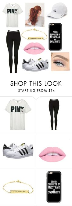 """Simple outfit"" by harleygirl013 ❤ liked on Polyvore featuring Victoria's Secret, Topshop, adidas Originals, Casetify, adidas and GET LOST"