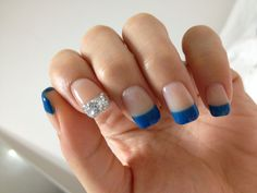 Blue Gel Nails :) Love it!