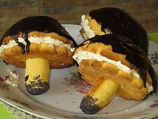 """Грибочки"""" с кремом- Mushroom pies with cream"""