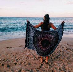 I like the blanket (or towel)
