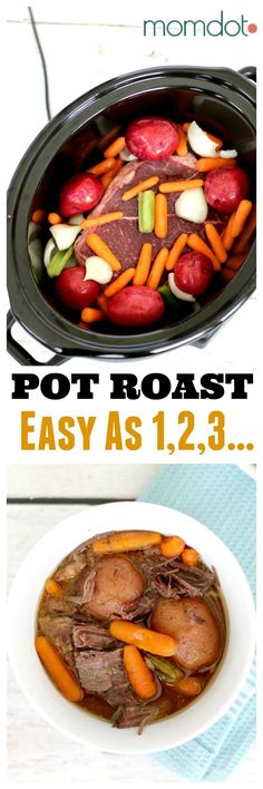 Easiest Pot Roast you will ever make: Roast with fresh potatoes, carrots, and spices. It does the work so you dont have to #tyson #tysonmealkits #ad