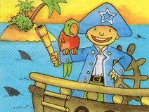 4 lose Servietten Napkins Pirat (878)