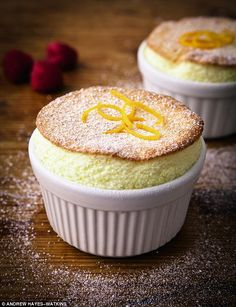 Raspberry and Orange Soufflés - get recipe here: http://www.dailymail.co.uk/femail/article-3565455/The-Hairy-Bikers-healthy-meals-half-hour-Raspberry-orange-souffles.html