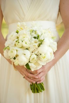 beautiful white bouquet from an A Charleston Bride wedding