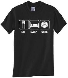 Eat, Sleep, Game Adult T-Shirt
