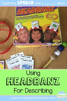 Are you looking for a new, fun way to target describing with you speech and language students? Try using a game you might already have- Headbanz!