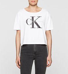 T-shirt Avec Logo Court - Teca Femmes   Calvin Klein® France
