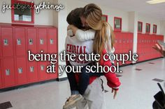 Being the cute couple at your school, one of many