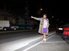 S02E03 <> www.hazbi.org Prostitute + Leopard + Shiny Fabrics + Scarf + Reebok Hexalite + Purple Bold Fashion, Mens Fashion, Shiny Fabric, Reebok, Fabrics, Purple, Style, Moda Masculina, Tejidos