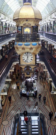 Queen Victoria Building, Sydney, Australia❤❤❤❤ My favourite building in Sydney… Brisbane, Melbourne Australia, Australia Travel, Perth, Melbourne Central, Places Around The World, Around The Worlds, Victoria Building, Great Barrier Reef