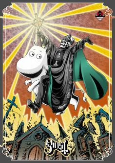 Im not sure who made this, but it is all sorts of awesome. Band Ghost, Ghost Bc, Ghost Album, Doom Metal Bands, Ghost In The Machine, Ghost Pictures, Music Illustration, Wallpaper Stickers, Music Images