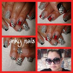 Red black White & zilver design