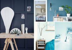 Blåmalte vegger i alle nyanser, fra dus pastell til mørk petroleum, er tydelig i trendbildet. Se vårt utvalg av rom i forskjellige blåfarger, og bli inspirert til å finne din egen! Farrow Ball, Cabinet, Storage, Interior, Furniture, Home Decor, Pastel, Rome, Clothes Stand