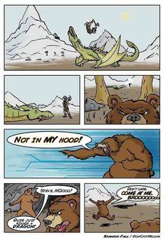 Skyrim bear. hahaha this looks funny