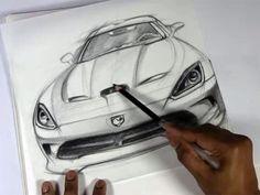Sketching a Dodge Viper on Vellum Paper