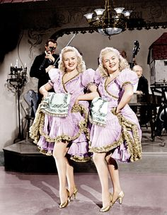 "Betty Grable, June Haver in ""The Dolly Sisters"" 1945."
