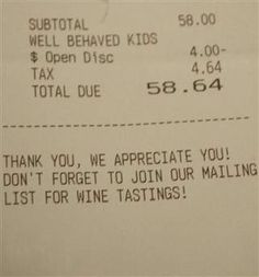 In The News: The restaurant receipt notes a discount for the King kids' good behavior, and goes viral.