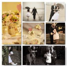 Vintage inspired wedding - its all in the detail. The wellington boots, the bouquet and the decoration.   www.thetimelesstable.co.uk