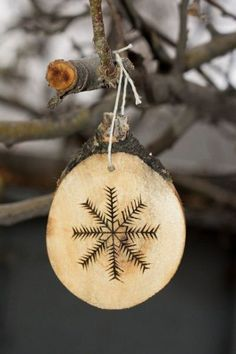 Natural Wood Burned Christmas