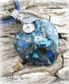 Blue and Grey Pendant £9.95