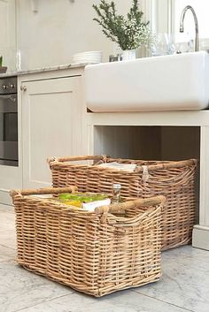 Chunky Rattan Square Basket Storage Baskets Rattan And Storage