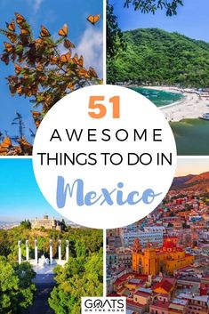 Discover our 51 awesome things to do in Mexico that has a lot to offer. From exploring Mexico City to scuba diving in Cozumel, swimming at cenotes, party in Guadalajara as well as exploring the colonial gorgeous towns of San Miguel de Allende and Guanajuato, experience the River Booze Cruise in Xochimilco, and more! You'll see the ruins, pristine beaches, culture, and cities. This is truly an unusual Mexico itinerary to take a wonderful trip! | #beautifuldestinations #traveltips #visitMexico
