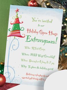 Open House Or Christmas Party Invitation By PartiesandPastries