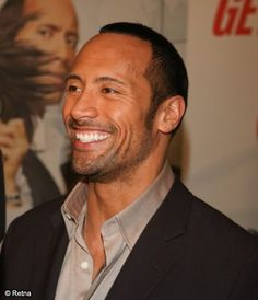 The Rock, Dwayne Johnson such a cute smile!                                                                                                                                                                                 More