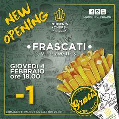 New Opening Queen's Chips Frascati #queenschips #lepiubelledelreame #fries #chips #viaspettiamo