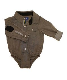 Take a look at this Gray Chambray Button-Up Bodysuit - Infant by Beetle & Thread on #zulily today!