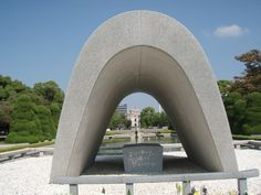 The Peace Arch in Hiroshima Peace Park. The stone sarcophagus inside the arch contains the names of all who fell to the atomic bombing. Every August 6, new names are added as hibakusha (a-bomb victims) die or new information is discovered identifying others who were killed at the time. Hiroshima, Beautiful Places, Most Beautiful, Japanese Travel, Miyajima, Wwii, 3d Printing, Tokyo, Journey