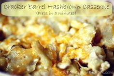 This super easy Cracker Barrel Hash Brown Casserole whips up in minutes, but grants your guests restaurant quality taste.
