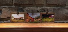 Rustic wood picture frame children's art by TreetopWoodworks