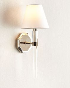 Octagonal+Lucite+Sconce+at+Horchow.
