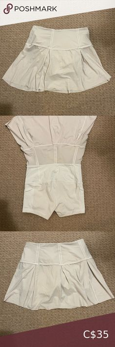 Lululemon offwhite skirt Built in short. Off White, Lululemon Athletica, Buy And Sell, Mini Skirts, Best Deals, Closet, Stuff To Buy, Beauty, Things To Sell