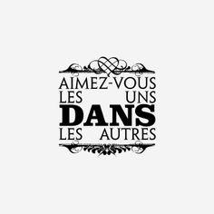 aimez-vous les uns dans les autres #amour #LesCartons