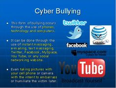 Cyber Bullying isn't just through messages..
