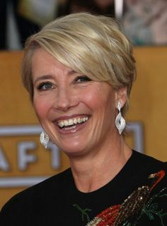 Layered Short Haircuts for Older Women: Emma Thompson Hair Style