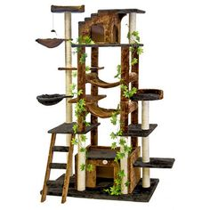 "$249.99 at Wayfair - 77"" Cat Tree in Brown & Black http://www.wayfair.com/daily-sales/p/Cat-Tree-Blowout-77%22-Cat-Tree-in-Brown-%26-Black~GPC1099~E19615.html?refid=SBP.rBAZEVUYrV4cXkYBlm34AuLaMc-TTkrkuiPEjzeyyiw"