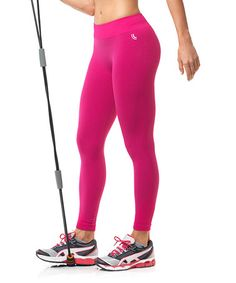 Look at this #zulilyfind! Rose Pink Calca Total Fit Seamless Compression Pants by Lupo #zulilyfinds